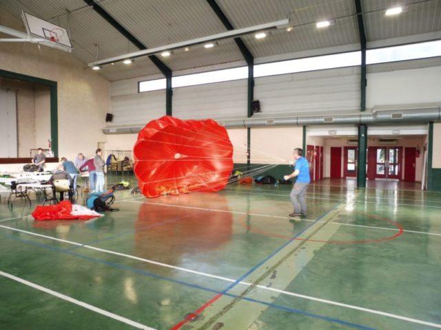 Pliage secours parapente Zeld'Aude Argeliers 2020
